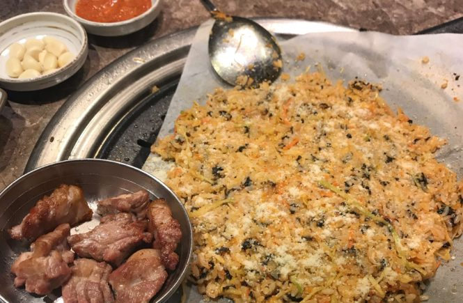 韓国旅行 ソウルグルメ サムギョプサル 肉典食堂 ポックンパ2