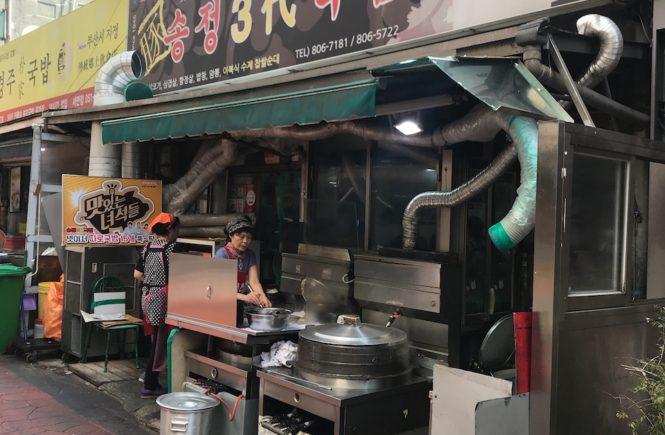 釜山 西面 テジクッパ通り 松亭3代クッパで朝食