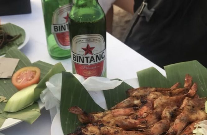 バリ島 グルメ イカンバカール ビンタンビール