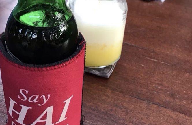 バリ島 ポークリブ スミニャック ノーティーヌリズ ビール