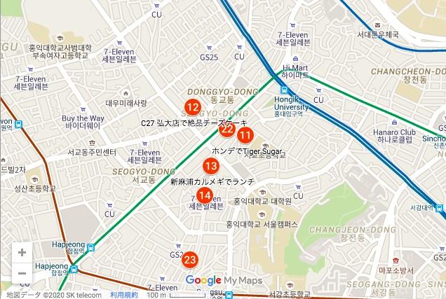 韓国 ホンデ チャックテイラー 取扱店 地図