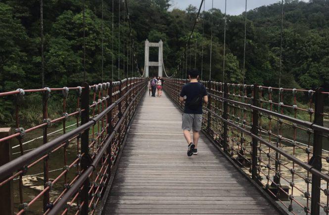 台湾 人気観光スポット 十分 吊り橋