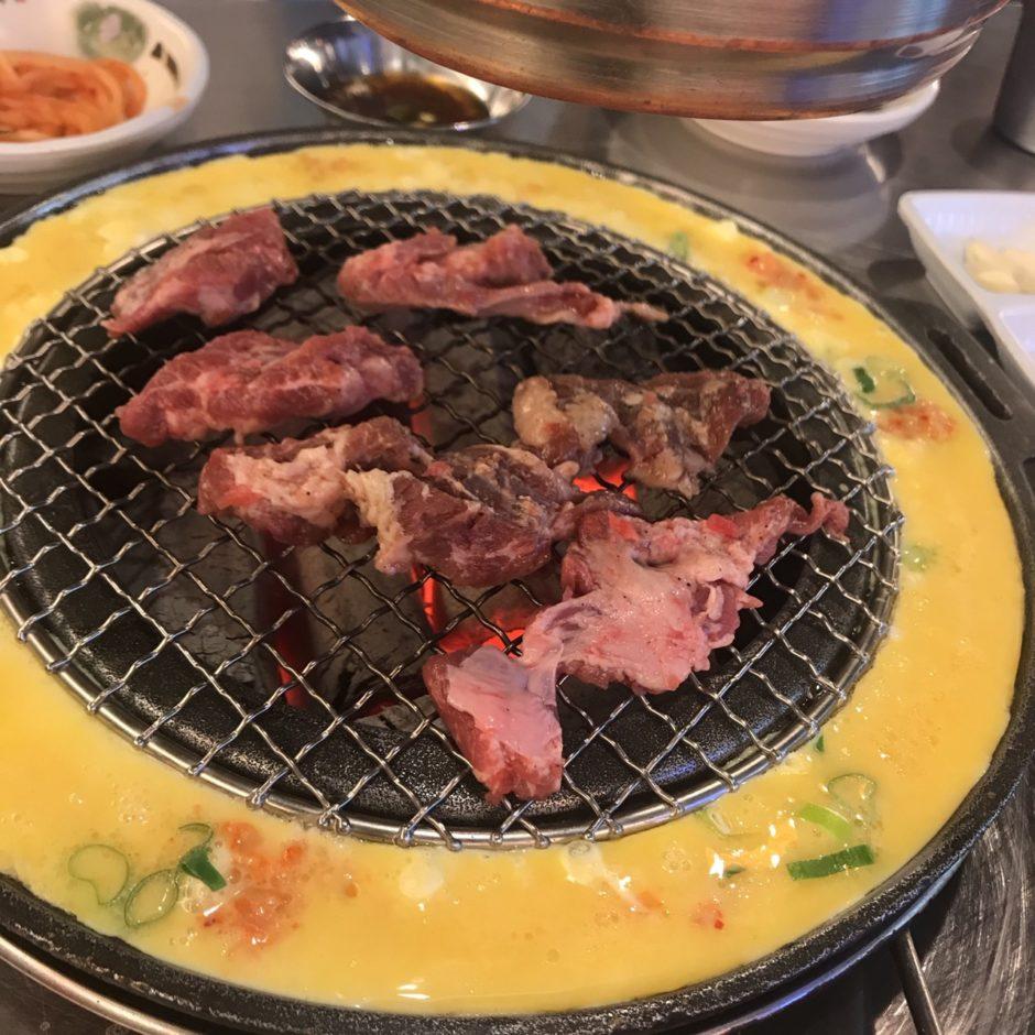 弘大 新麻浦カルメギ カモネギサルで昼食