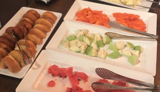 台湾 ホテル リラックス2 朝食 フルーツ