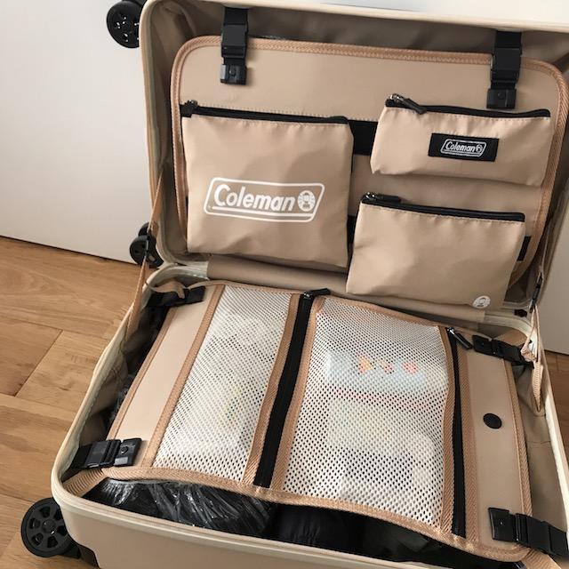 3泊分の荷物をパッキングした様子 エアアジア 機内持ち込み スーツケース