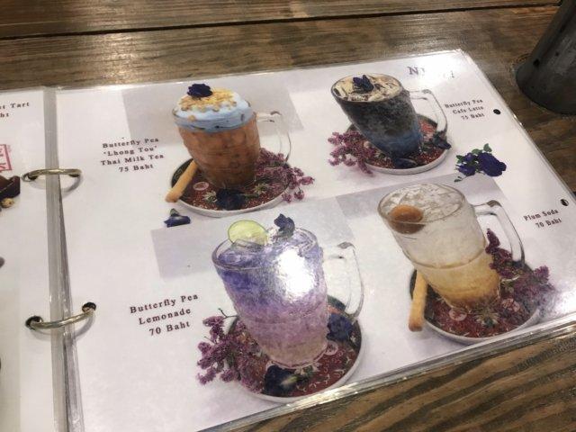 バンコク カフェ Lhong Tou Cafe ドリンクメニュー