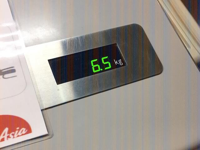 エアアジア 機内持ち込み スーツケース 重量.