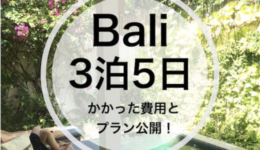 バリ島【旅行プラン】3泊5日の観光モデルコース・スケジュール