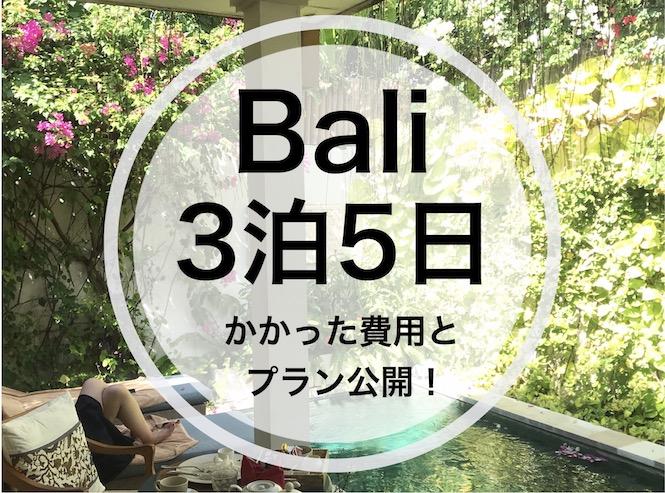 バリ旅行 予算 3泊5日
