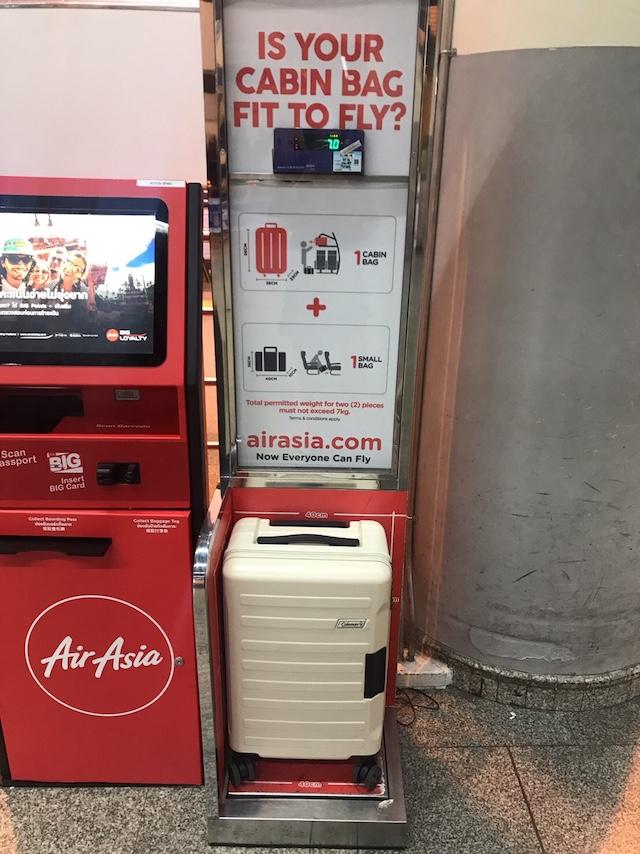 エアアジア 機内持ち込み スーツケース サイズ 重量