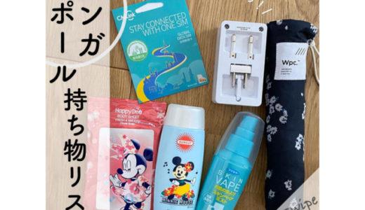 シンガポール旅行【持ち物】必需品や便利グッズのチェックリスト【女性向け】