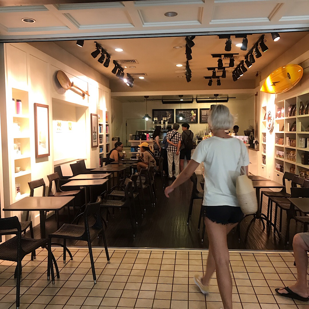アイランドヴィンテージコーヒーの内観 ハワイ アラモアナ