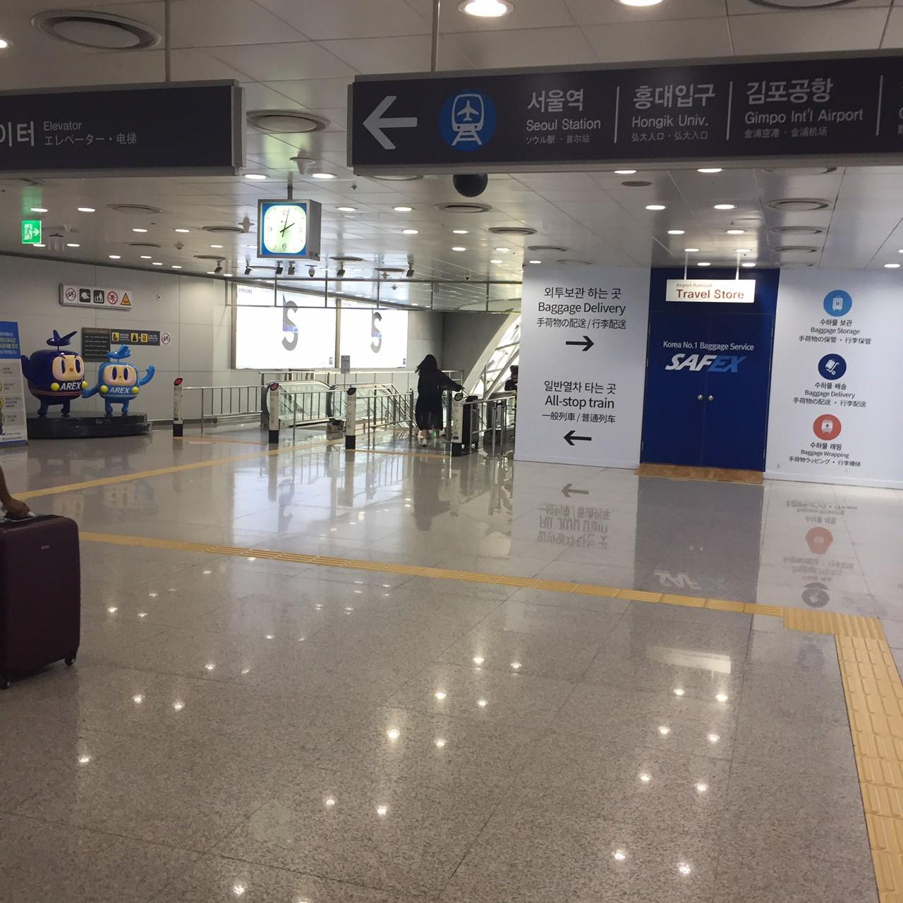 仁川空港 明洞 電車 乗り場