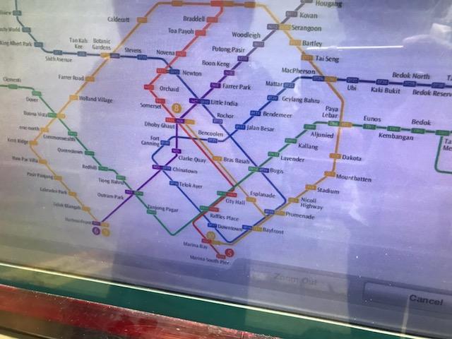 シンガポール MRT 券売機2