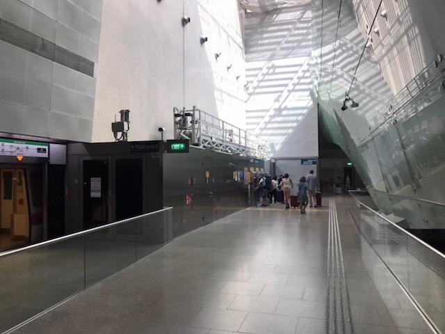 シンガポール チャンギ空港 MRT チケット売り場