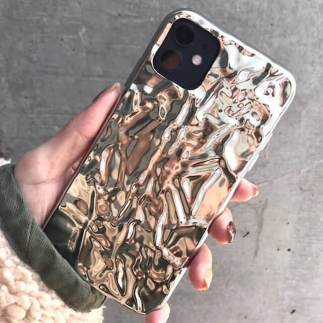 iphone 11 case silver foil